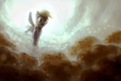 Size: 1800x1200 | Tagged: safe, artist:assasinmonkey, derpy hooves, pegasus, pony, female, mare, muffin, solo