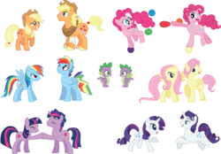 Size: 4188x2909 | Tagged: safe, artist:trotsworth, applejack, fluttershy, pinkie pie, rainbow dash, rarity, spike, twilight sparkle, fanfic:on a cross and arrow, absurd resolution, applejack (male), applejacks (shipping), bandage, barb, barbspike, bouncy ball, bubble berry, bubblepie, butterscotch, dashblitz, dusk shine, dusktwi, elusive, female, flutterscotch, implied shipping, male, mane seven, mane six, rainbow blitz, rarilusive, rule 63, self dragondox, self ponidox, selfcest, shipping, simple background, spikebarb, straight, transparent background, vector
