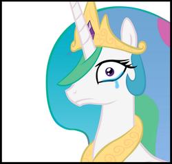 Size: 538x514 | Tagged: safe, princess celestia, crying, solo