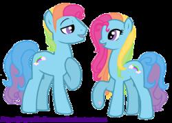 Size: 1774x1270 | Tagged: safe, artist:jaquelindreamz, rainbow dash, rainbow dash (g3), g3, rainbow blitz, rule 63, self ponidox