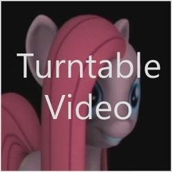 Size: 299x299 | Tagged: safe, artist:hashbro, pinkie pie, 3d, cute, cuteamena, grin, happy, icon, pinkamena diane pie, smiling, youtube link