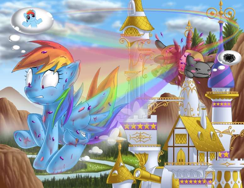 Nyan Cat And Rainbow Dash Nyan Cat Rainbow Dash