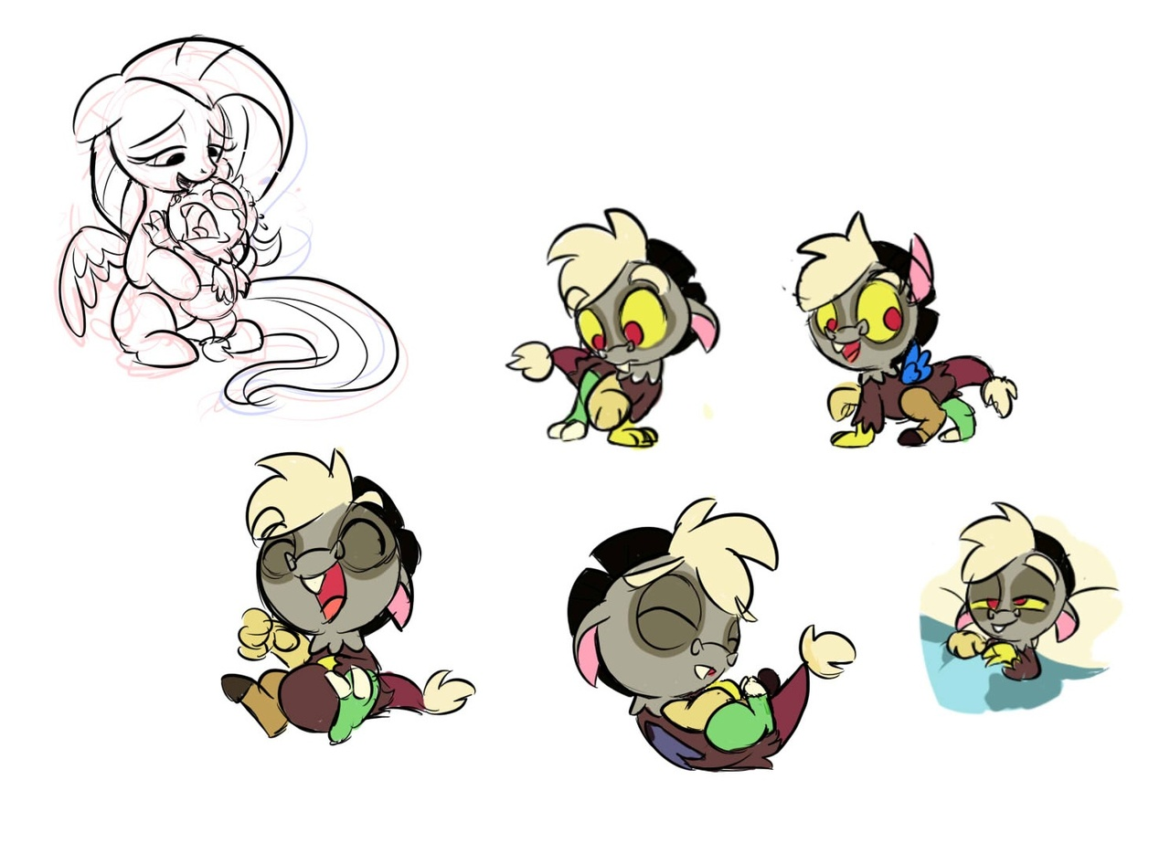 Baby Discord And Fluttershy Adorable Baby D...