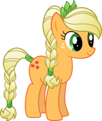Size: 8459x10000 | Tagged: safe, artist:teiptr, applejack, absurd resolution, alternate hairstyle, braid