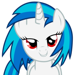 Size: 858x864 | Tagged: dead source, safe, artist:eruvon, dj pon-3, vinyl scratch, pony, unicorn, bedroom eyes, female, horn, love face, mare, simple background, smiling, solo, teeth, transparent background, vector