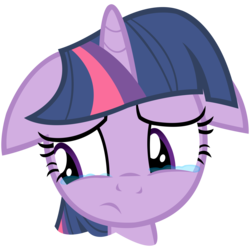 Size: 8000x8000 | Tagged: artist needed, source needed, safe, artist:choopy, twilight sparkle, pony, unicorn, winter wrap up, absurd resolution, crying, crylight sparkle, female, floppy ears, simple background, solo, teary eyes, transparent background, unicorn twilight, vector