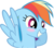 Size: 8000x7000 | Tagged: safe, artist:choopy, rainbow dash, absurd resolution, blushing, simple background, transparent background, vector