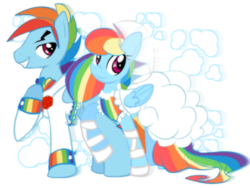 Size: 800x600 | Tagged: safe, artist:anaxboo, rainbow dash, clothes, dashblitz, dress, female, male, rainbow blitz, rule 63, self ponidox, selfcest, shipping, straight, tuxedo, wedding, wedding dress