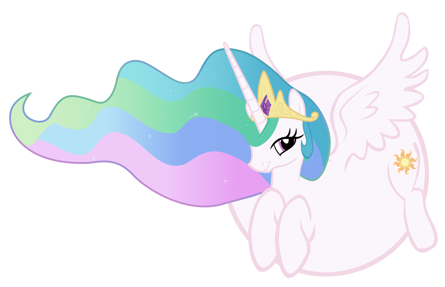 Princess Celestia Fat Princess Celestia