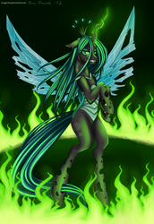 Size: 1915x2783 | Tagged: artist:dragonina, queen chrysalis, safe