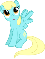 Size: 900x1163 | Tagged: safe, artist:silvervectors, sassaflash, pegasus, pony, background pony, female, looking up, mare, simple background, sitting, solo, transparent background, vector