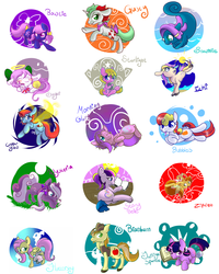 Size: 2100x2625 | Tagged: safe, artist:cotton, bowtie (g1), braeburn, bubbles (g1), copper glow, fluttershy, gusty, morning glory, seawinkle, starlight (g1), storybelle, twilight sparkle, wysteria, zipzee, breezie, sea pony, my little pony tales, braebetes, cute, diabreezies, g1, g2, g3, gustybetes, high res, ichi, shyabetes, sugar (my little pony tales), tieabetes, twiabetes, wysteriaaw