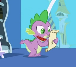 Size: 436x386 | Tagged: dragon, exploitable, friendship is magic, letter, male, quill, safe, screencap, solo, spike, spike's love letters, template, tongue out