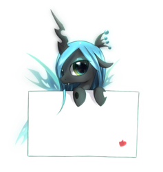 Size: 1020x1077 | Tagged: artist:zymonasyh, cute, cutealis, filly, note, queen chrysalis, safe