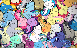 Size: 2560x1600 | Tagged: 3*3, aloe, apple bloom, applejack, artist:bronybiscuitbites, bon bon, cheerilee, cutie mark crusaders, derpy hooves, dj pon-3, doctor whooves, fancy mathematics, female, fluttershy, lily, lily valley, lotus blossom, lyra heartstrings, mane six, mare, math, octavia melody, p31m, pegasus, pinkie pie, pony, princess celestia, princess luna, rainbow dash, rarity, roseluck, royal guard, s1 luna, safe, scootaloo, soarin', so much pony, spitfire, sweetie belle, sweetie drops, tessellation, time turner, trixie, twilight sparkle, twist, vinyl scratch, zebra, zecora
