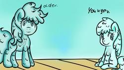 Size: 800x450   Tagged: safe, artist:freefraq, oc, oc only, oc:shiny slime, goo pony, original species, slime, solo, tumblr