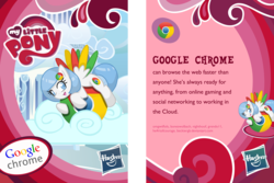 Size: 1800x1200 | Tagged: browser ponies, collector card, fake, google chrome, internet browser, oc, oc:google chrome, oc only, ponified, safe