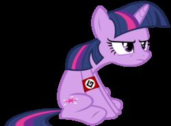 Size: 1000x740   Tagged: safe, twilight sparkle, pony, unicorn, female, frown, grammar nazi, grumpy, grumpy twilight, mare, simple background, sitting, solo, transparent background, underhoof, unicorn twilight, vector