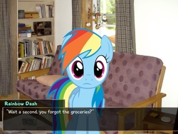 Size: 797x598 | Tagged: safe, rainbow dash, dialogue, katawa shoujo, visual novel