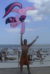 Size: 700x1031 | Tagged: safe, twilight sparkle, human, pony, beach, handstand, irl, photo, ponies in real life, vector