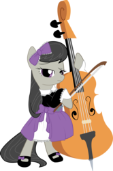 Size: 1990x3000   Tagged: safe, artist:candy-muffin, octavia melody, cello, clothes, lolita fashion, musical instrument, simple background, transparent background, vector