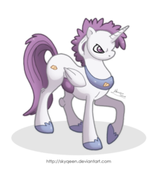 Size: 600x705 | Tagged: safe, artist:almairis, alicorn, mewtwo, pony, pokémon