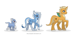 Size: 1280x694 | Tagged: safe, artist:almairis, dracony, dragonair, dragonite, dratini, hybrid, crossover, evolution chart, family, female, foal, long mane, male, mare, pokémon, ponymon, simple background, socks (coat marking), stallion, transparent background, trio, wings