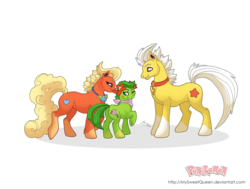 Size: 1280x966 | Tagged: artist:almairis, bellossom, blushing, crossover, family, female, filly, flareon, foal, jolteon, male, mare, pokémon, ponymon, safe, simple background, socks (coat marking), stallion, transparent background, trio