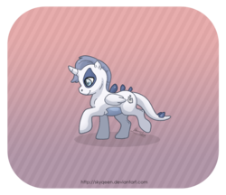 Size: 1024x883 | Tagged: safe, artist:almairis, alicorn, lugia, pony, abstract background, crossover, pokémon, ponymon, solo