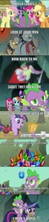 Size: 800x3602 | Tagged: safe, edit, edited screencap, screencap, applejack, fido, fluttershy, pinkie pie, rainbow dash, rover, spike, spot, twilight sparkle, diamond dog, dragon, pony, a dog and pony show, the ticket master, beefspike, comic, ei, female, hub logo, i'm on a horse, male, mare, old spice, the man your man could smell like