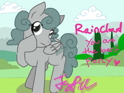 Size: 1024x768 | Tagged: safe, artist:thejennypill, friendship is witchcraft, ponified, raincloud