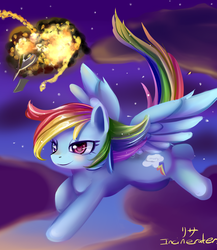 Size: 600x690 | Tagged: safe, artist:incinerater, rainbow dash, explosion