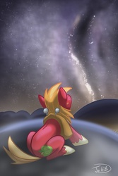 Size: 668x1000 | Tagged: safe, artist:secoh2000, big macintosh, earth pony, pony, male, solo, stallion, stargazing, stars, the cosmos