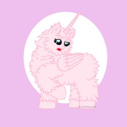 Size: 5669x5669 | Tagged: safe, artist:tricornking, oc, oc only, oc:fluffle puff, alicorn, original species, absurd resolution, alicornified, flufflecorn, race swap, solo