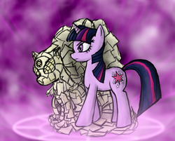 Size: 746x600 | Tagged: artist:omenfox13, crossover, jojo's bizarre adventure, paper, safe, stand, twilight sparkle