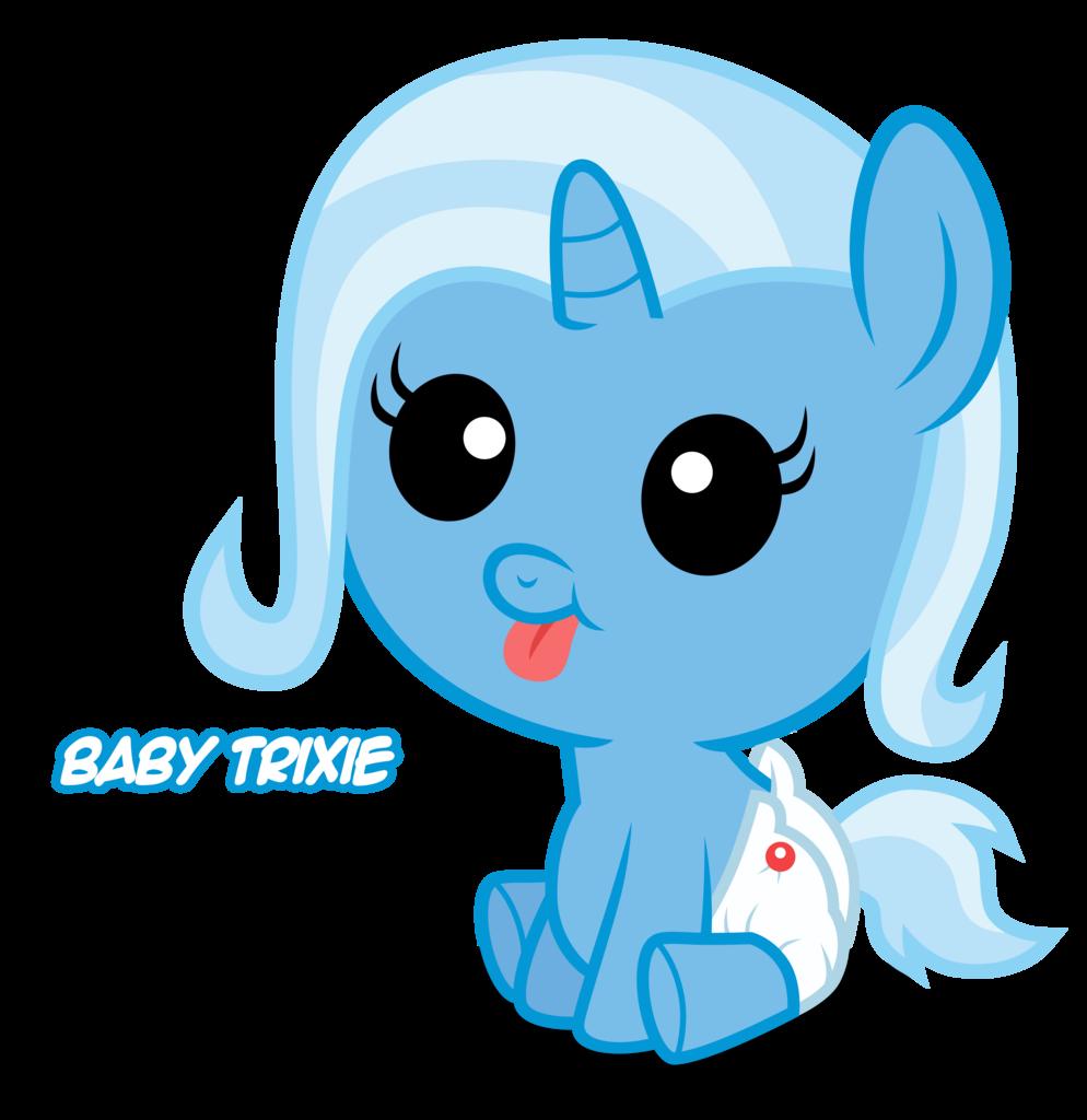 Trixie Baby 208979 - artist:austiniousi, baby, baby pony, diaper, foal, pony