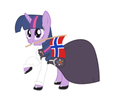 Size: 5240x4680 | Tagged: absurd res, artist:blackm3sh, bunad, clothes, dress, flag, norway, safe, simple background, transparent background, twilight sparkle, vector