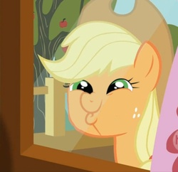 Size: 500x483 | Tagged: applejack, dashface, edit, edited screencap, face swap, safe, screencap, so awesome