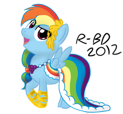 Size: 700x650 | Tagged: artist:rb-d, clothes, dress, filly, gala dress, rainbow dash, safe