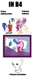 Size: 509x1133 | Tagged: inb4, magical mystery cure, princess cadance, princess coronation, safe, shining armor, speculation