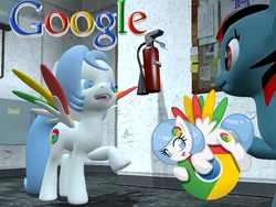 Size: 800x600 | Tagged: safe, artist:lunarguardwhoof, oc, oc only, oc:google chrome, pegasus, pony, 3d, browser ponies, gmod, google, google chrome
