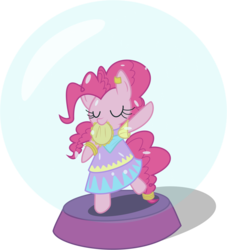 Size: 7428x8192 | Tagged: safe, artist:mrfoxington, pinkie pie, pony, friendship is witchcraft, absurd resolution, bipedal, clothes, dancing, dress, gypsy bard, gypsy pie, mouth hold, musical instrument, romani, snow globe, tambourine
