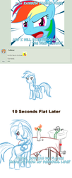 Size: 900x2208 | Tagged: safe, artist:feather, rainbow dash, pegasus, pony, cargo ship, comic, kitchen sink, rainbowsink, sexuality, shipping, sink, table