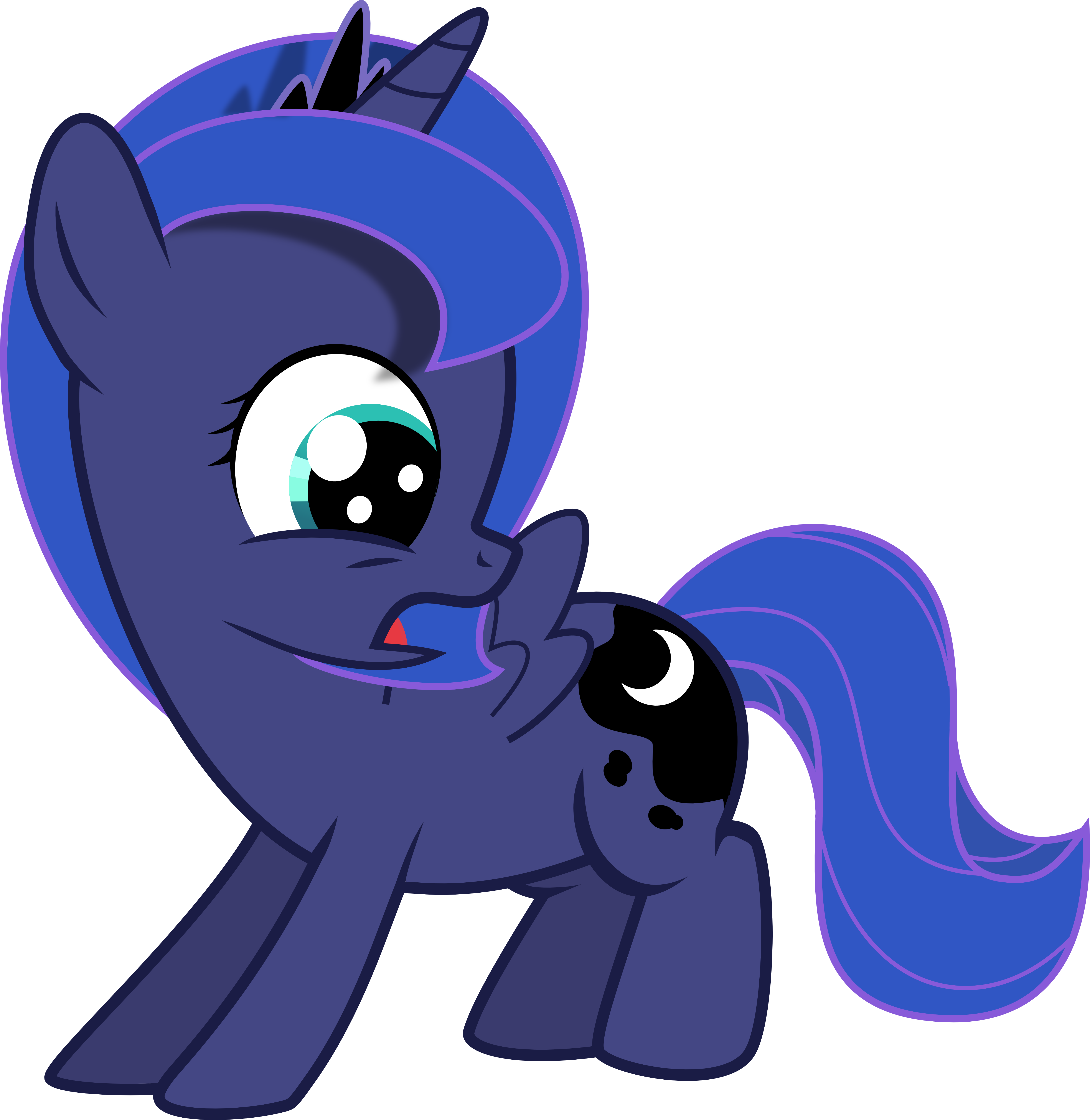 My little pony filly luna - photo#16