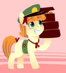 Size: 814x900 | Tagged: safe, artist:kevinsano, tag-a-long, just for sidekicks, filly guides, grin, smiling, solo, thin mint