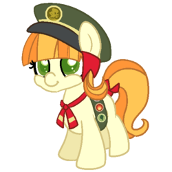 Size: 500x500 | Tagged: safe, artist:robynne, tag-a-long, just for sidekicks, girl scout, thin mint
