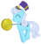 Size: 4936x5221 | Tagged: safe, artist:fooblued, linky, shoeshine, absurd resolution, alternate cutie mark, background pony, hat, musician, simple background, transparent background, vector