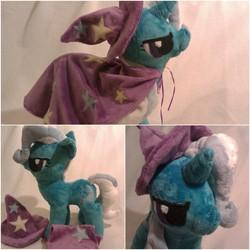 Size: 1600x1600 | Tagged: safe, artist:arualsti, trixie, pony, unicorn, cape, clothes, female, hat, irl, mare, photo, plushie, solo, trixie's cape, trixie's hat