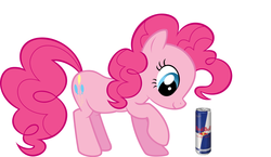 Size: 1400x813 | Tagged: energy drink, pinkie pie, red bull, safe, xk-class end-of-the-world scenario
