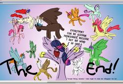 Size: 938x640 | Tagged: safe, artist:brutamod, angel bunny, apple bloom, chief thunderhooves, gilda, gummy, pinkie pie, scootaloo, snips, tank, twilight sparkle, twist, alicorn, alligator, buffalo, griffon, pony, rabbit, tortoise, allicorn, animal, bloomicorn, everyone is an alicorn, grifficorn, princess gilda, quality, scootacorn, snipsicorn, stylistic suck, twilight sparkle (alicorn), twisticorn